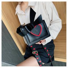 Girls One Shoulder Fashion Tote black 19cmx15cmx8cm