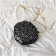 Mini shell pouch black 18cmx9cmx18cm