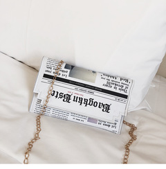Funny simple chain bag picture color 13cmx21cmx2cm