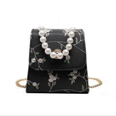 Fashion student shoulder diagonal package black 13cmx16cmx7cm