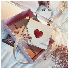 Bow fashion love handbag white 18cmx15cmx7cm