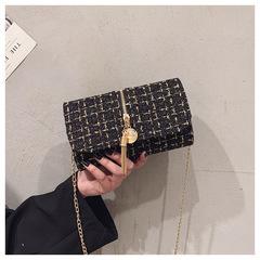 Fashion small fresh handbag black 20cmx13cmx7cm