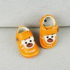 Bull tendon soft sole anti-skid shoes yellow 15 (inner length 11CM)