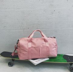 Sports Women Yoga Fitness Bag Large-capacity Travel Bag pink 49cmx25cmx22cm