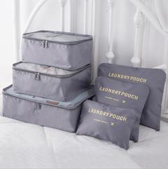 Clothing Finishing Six-piece Travel Bag Set gray Unified size