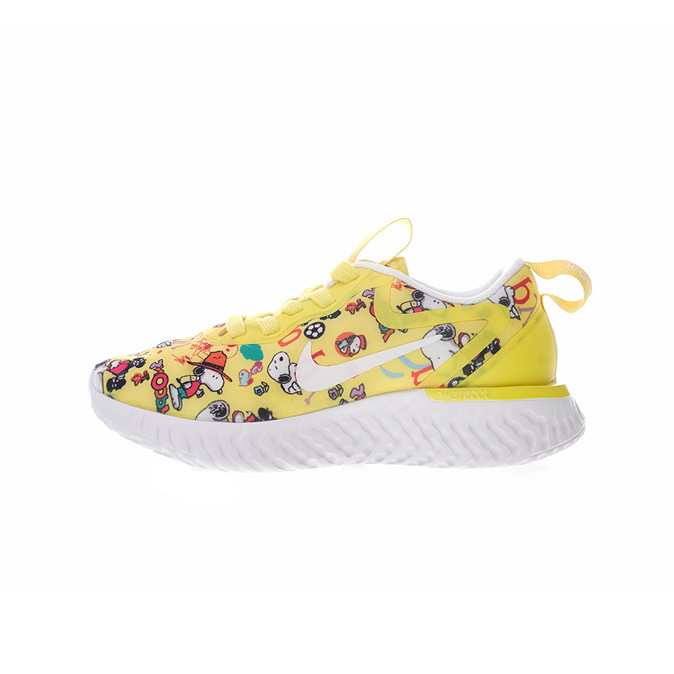 69ddf71013 Nike OdysseyReact GS Snoopy x Running Shoes Children s Sports Shoes  Sneakers Yellow Size 26-35