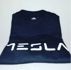 TESLA T-SHIRT Black Small/Medium/Large Cotton