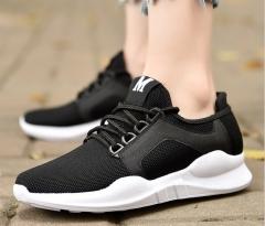 2018 autumn men's new couple models flat sports wind casual shoes black 42