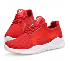 2018 autumn men's new couple models flat sports wind casual shoes red 42