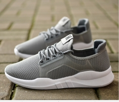 2018 autumn men's new couple models flat sports wind casual shoes gray 40