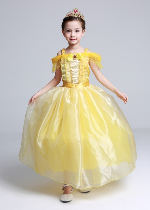 0e5d0658cb2 Belle Princess Dress Skirt Summer Princess Dress Beauty and Beast Yellow  Belle Dress Dress Skirt yellow