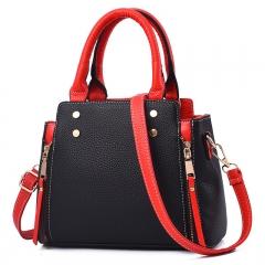 Women Hot Sale Fashion Color-matching Individual Crossbody Bag Handbag Single-shoulder Bag black as picture