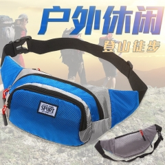 New Fashion Pack Chest Waist Bag Pouch Belt For Workouts Travel Outdoor Sport  Men and Women's Bag blue one size