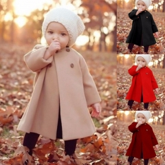 Kids&Baby Autum Winter Fashion Coat Warm Cute Trendy Jacket Kid Clothing Boy Girl Casual Outfits. wine red 60