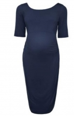 Kate Kasin Maternity Evening / Official Dresses Navy Blue L