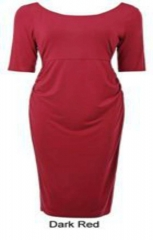 Kate Kasin Maternity Evening / Official Dresses Red L