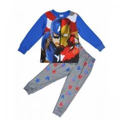Boys Set - Grey-Blue Long Sleeved Pajamas - Avengers print Blue with Avengers print 8yrs Boy