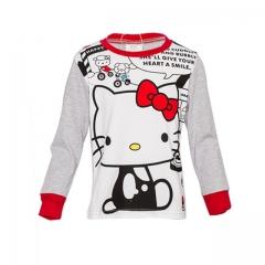 Girls Pajama Set - Grey Top & pants - Hello Kitty print Grey  - Hello Kitty print 2yrs old Girl
