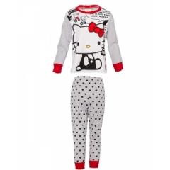 Girls Pajama Set - Grey Top & pants - Hello Kitty print Grey  - Hello Kitty print 10yrs old Girl