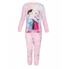 Light Pink Long Sleeved Girls Pajama Set with Frozen Print Light Pink 4yrs old girl