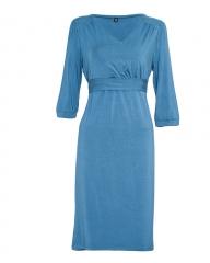 Blue Maternity & Nursing 3/4 Sleeve Dress blue 12
