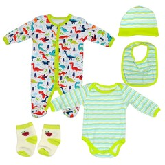 Fashion Baby Long Sleeved Top, Pants & Jumpsuit Green-White Green-white 3m