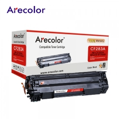 Arecolor 1 Piece Black Toner Cartridge AR-CF283A (83A)---For HP Printer--- black