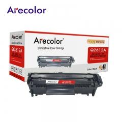 Arecolor 1 Piece Black Toner Cartridge AR-Q2612A (12A)---For HP Printer--- black