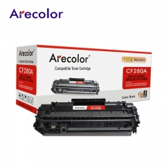 Arecolor 1 Piece Black Toner Cartridge AR-CF280A  (80A)---For HP Printer--- black