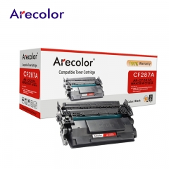 Arecolor 1 Piece Black Toner Cartridge AR-CF287A (87A)---For HP Printer--- black