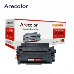Arecolor 1 Piece Black Toner Cartridge AR-CE255A  (55A)---For HP Printer--- black