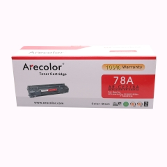 Arecolor 1 PieceAR-CE278A (78A)  Color Toner Cartridge For HP Printer black