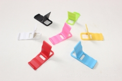 Beach Chair Mini Stand Plastic Folding Keychain Phone Stand Siamese Stand green one size