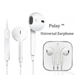 PULAY HIFI Earbud In-Ear Sports Headset Earphone Headphone Stereo Earpiece with MIC for IOS/Android White