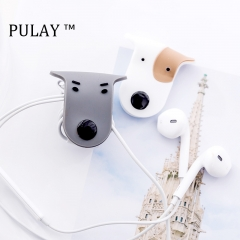 2018 Cartoon Doggie Puppy Winder Data Cable Headphone Earphone Cable Organizer Rubber Wire Storage Random One Size