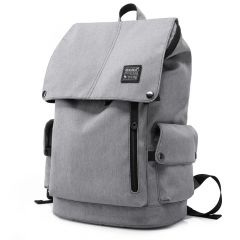 15.6 Inch Men Anti-theft Laptop Backpack Oxford School Laptop Large Capacity Computer Bag Grey one size
