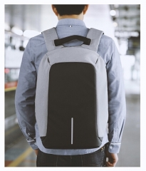 Slim Business Computer Laptop Backpack with USB Charging, Water Resistant Anti-theft Travel Bags grey one size