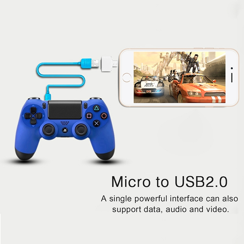 Mini OTG Cable USB OTG Adapter Micro USB to USB Converter for Tablet PC Android White one size 3