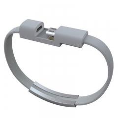 Bracelet Micro USB Cable Wire Sync Data Charger Cord USB Cable For Samsung Xiaomi & Android Phones Grey 21.5CM