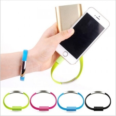 Bracelet Micro USB Cable Wire Sync Data Charger Cord USB Cable For Samsung Xiaomi & Android Phones Black 21.5CM