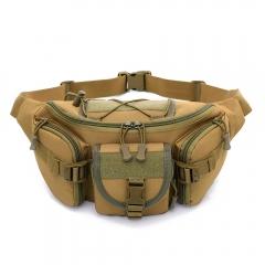 Waist Bag For Men Multifunction Waterproof Military Belt Waist Bags Outdoor Travel Waistbag Kahki One Size