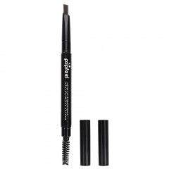 Fashion Double Headed Rotary Automatic Pencil Waterproof Long Lasting Makeup Eyebrow Pen DEEP GRAY