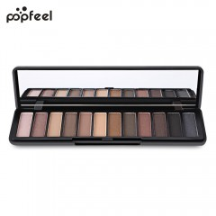 Popfeel Makeup Matte 12 Color Eye Shadow Palette with Mirror #01