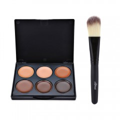Professional Natural 6 Color Foundation Contour with Powder Brush #3