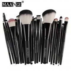 MAANGE 22pcs Foundation Blush Eye Shadow Makeup Brushes BLACK
