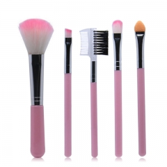 5Pcs/Lot Eye Shadow Foundation Eyebrow Lip Brush Makeup Brushes Cosmetic Tool Make Up Brush Set PINK