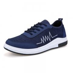 2018 new Beijing men's casual canvas shoes, men's sports shoes, Korean men's shoes blue 40