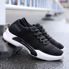 2018 new fashion men's shoes, casual wear canvas shoes, men's shoes, board shoes, breathable shoes. black 40