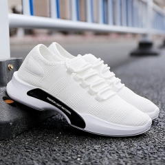2018 new fashion men's shoes, casual wear canvas shoes, men's shoes, board shoes, breathable shoes. white 39