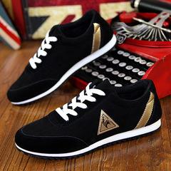 New men's fashion men's shoes breathable shoes men's low to help sports shoes shoes black 41
